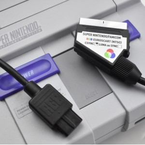 Super Nintendo NTSC Famicom SNES RGB SCART PACKAPUNCH PRO CABLE
